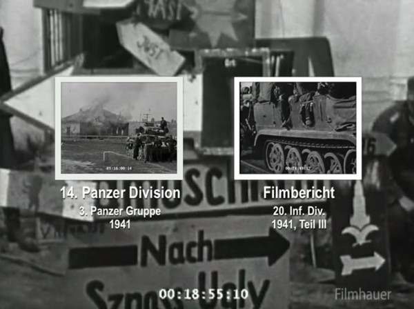LOST WEHRMACHT FOOTAGE: 14th PzD - 20th INF DIV Part 3 1941